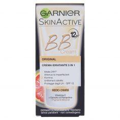 SKIN ACTIVE-Garnier BB Cream Original Crema viso idratante 5in1 con Vitamina C, Medio-Chiara - 50 ml
