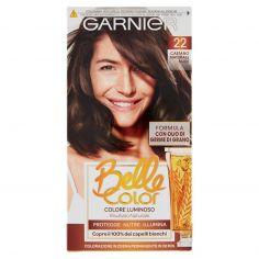 BELLECOLOR-Garnier Belle Color Colore Luminoso, Tinta per Capelli Bianchi 22 Castano Naturale Nude