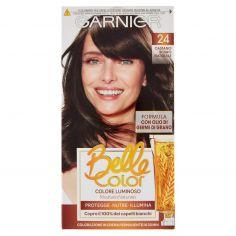 BELLECOLOR-Garnier Belle Color Colore Luminoso, Tinta per Capelli Bianchi 24 Castano Scuro Naturale