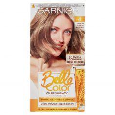 BELLECOLOR-Garnier Belle Color Colore Luminoso, Tinta per Capelli Bianchi 4 Biondo Cenere Naturale