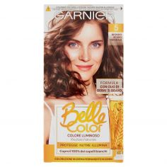 BELLECOLOR-Garnier Belle Color Colore Luminoso, Tinta per Capelli Bianchi 5 Biondo Scuro Naturale