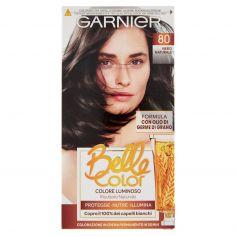 BELLECOLOR-Garnier Belle Color Colore Luminoso, Tinta per Capelli Bianchi 80 Nero Naturale
