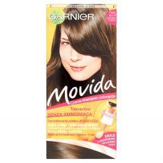 MOVIDA-Garnier Movida crema shampoo colorante 25 castano chiaro
