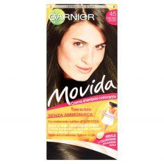 MOVIDA-Garnier Movida crema shampoo colorante 45 castano scuro