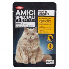 Coop-Gatti Adulti Sensitive Bocconcini Ricchi in agnello 85 g