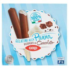 Coop-Gelatini alla Panna Ricoperti di Cioccolato 6 x 37 g