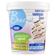Coop-Gelato bianco variegato cacao 250 g