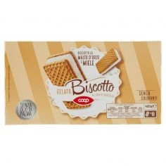 Coop-Gelato Biscotto al Gusto Vaniglia 8 x 50 g