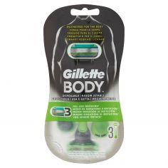 GILLETTE-Gillette Body Rasoi Usa & Getta Per il Corpo - 3 rasoi