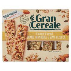 GRANCEREALE-Gran Cereale 5 barrette di cereali Grano, Mandorle e Semi di Zucca 135g