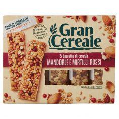 GRANCEREALE-Gran Cereale 5 barrette di cereali Mandorle e Mirtilli Rossi 135g