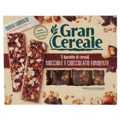 GRANCEREALE-Gran Cereale 5 barrette di cereali Nocciole e Cioccolato Fondente 135g