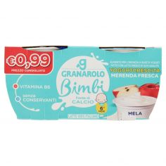 ALTA QUALITA'-Granarolo Bimbi Yogurtcrescita Merenda Fresca Mela 2 x 100 g