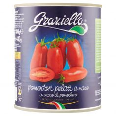 Graziella pomodori pelati a mano in succo di pomodoro 800 g