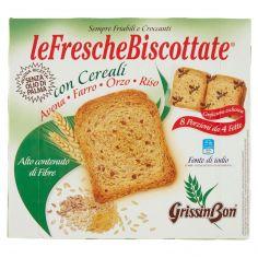 GRISSIN BON-GrissinBon leFrescheBiscottate con Cereali Avena - Farro - Orzo - Riso 250 g