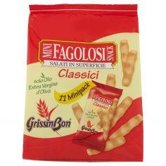 GRISSIN BON-GrissinBon Mini Fagolosi Snack Classici 11 x 15 g