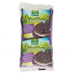 VITALDAY-Gullón vitalday Gallette di Riso integrale ricoperte di cioccolato fondente 105,2g
