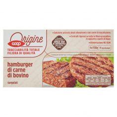 Coop-hamburger di carne di bovino surgelati 4 x 100 g