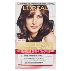 EXCELLENCE-L'Oréal Paris Excellence, Crema colorante triplo trattamento avanzato, 4 Castano