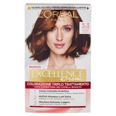 EXCELLENCE-L'Oréal Paris Excellence, Crema colorante triplo trattamento avanzato, 5.3 Castano Chiaro Dorato