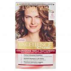 EXCELLENCE-L'Oréal Paris Excellence, Crema colorante triplo trattamento avanzato, 6 Biondo Scuro