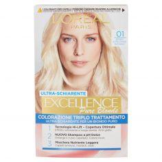 EXCELLENCE-L'Oréal Paris Excellence Crema colorante triplo trattamento avanzato, 01 Biondo UltraChiaro Naturale