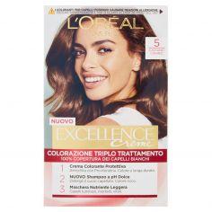 EXCELLENCE-L'Oréal Paris Excellence Crema colorante triplo trattamento avanzato, 5 Castano Chiaro