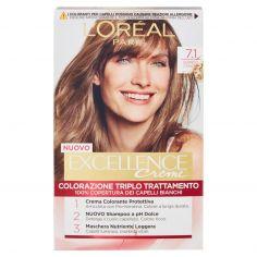EXCELLENCE-L'Oréal Paris Excellence Crema colorante triplo trattamento avanzato, 7.1 Biondo Cenere