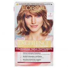 EXCELLENCE-L'Oréal Paris Excellence Crema colorante triplo trattamento avanzato, 7 Biondo