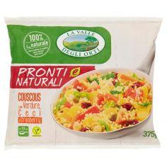 LA VALLE DEGLI ORTI-La Valle degli Orti Pronti e Naturali Couscous con Verdure, Ceci e Cranberry 375 g