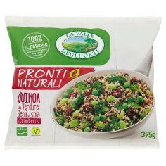 LA VALLE DEGLI ORTI-La Valle degli Orti Pronti e Naturali Quinoa con Verdure, Semi di soia e Cranberry 375 g