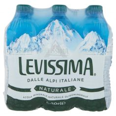 LEVISSIMA-LEVISSIMA, Acqua Minerale Naturale Oligominerale, Bottiglia Piccola 50cl x 6