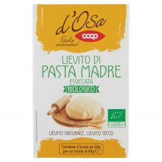 Coop-Lievito di Pasta Madre Essiccata Biologico 3 x 20 g