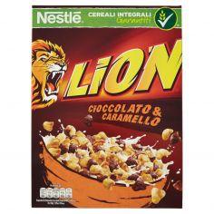 LION-LION cereali cioccolato e caramello 400g