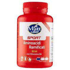 MATT&DIET-Matt&diet Sport Aminoacidi Ramificati BCAA con Vitamina B6 120 compresse 130,5 g