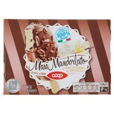 Coop-Maxi Mandorlato Gelato alla Panna con Vaniglia Bourbon del Madagascar 4 x 80 g
