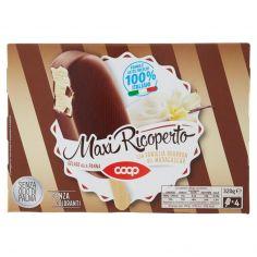 Coop-Maxi Ricoperto Gelato alla Panna con Vaniglia Bourbon del Madagascar 4 x 80 g