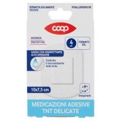 Coop-Medicazioni Adesive TNT Delicate Formato XXL 10x7,5 cm 4 pz