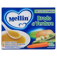 MELLIN-Mellin Brodo di verdure 10 bustine monodose 80 g