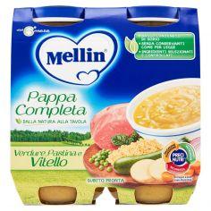 MELLIN-Mellin Pappa Completa Verdure, Pastina e Vitello 2 x 250 g