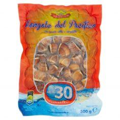 MENO 30-Meno 30 il Cuoco di Mare Vongole del Pacifico con guscio, cotte e surgelate 500 g