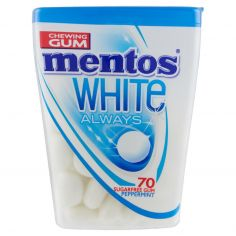 MENTOS GUM-mentos White Always 70 Sugarfree Gum Peppermint 74 g