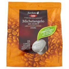 Coop-Michelangelo 100% Arabica Etiopia 15 Capsule di Caffè Tostato e Macinato 95 g