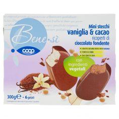 Coop-Mini stecchi vaniglia & cacao ricoperti di cioccolato fondente 6 x 50 g
