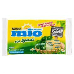 MIO-MIO FORMAGGINO con Spinaci Formaggio fuso con purea di spinaci 125g (6 formaggini)