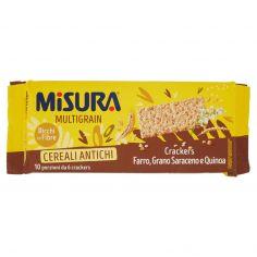 MULTIGRAIN-Misura Multigrain Cereali Antichi Crackers Farro, Grano Saraceno e Quinoa 350 g