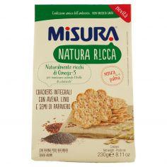 NATURA RICCA-Misura Natura Ricca Crackers Integrali con Avena, Lino e Semi di Papavero 230 g