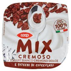 Coop-Mix Cremoso Yogurt Bianco Cremoso Dolce e Fiocchi di Cioccolato 150 g