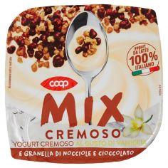 Coop-Mix Cremoso Yogurt Cremoso al Gusto di Vaniglia e Granella di Nocciole e Cioccolato 150 g