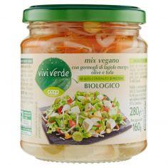 Coop-mix vegano con germogli di fagiolo mungo, olive e tofu Biologico 280 g
